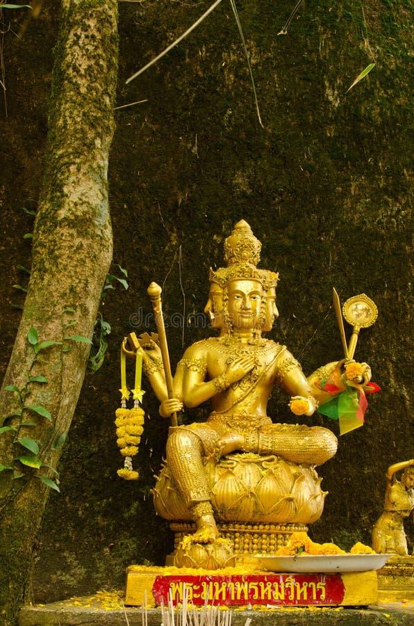 Thailändische goldene Statue stockbild