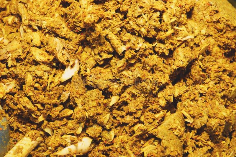 Thailändische Küche Paprikapasten-Trockenfischniere lizenzfreies stockfoto