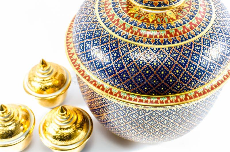 Thailändische Keramik handcraft Schüssel stockfotos