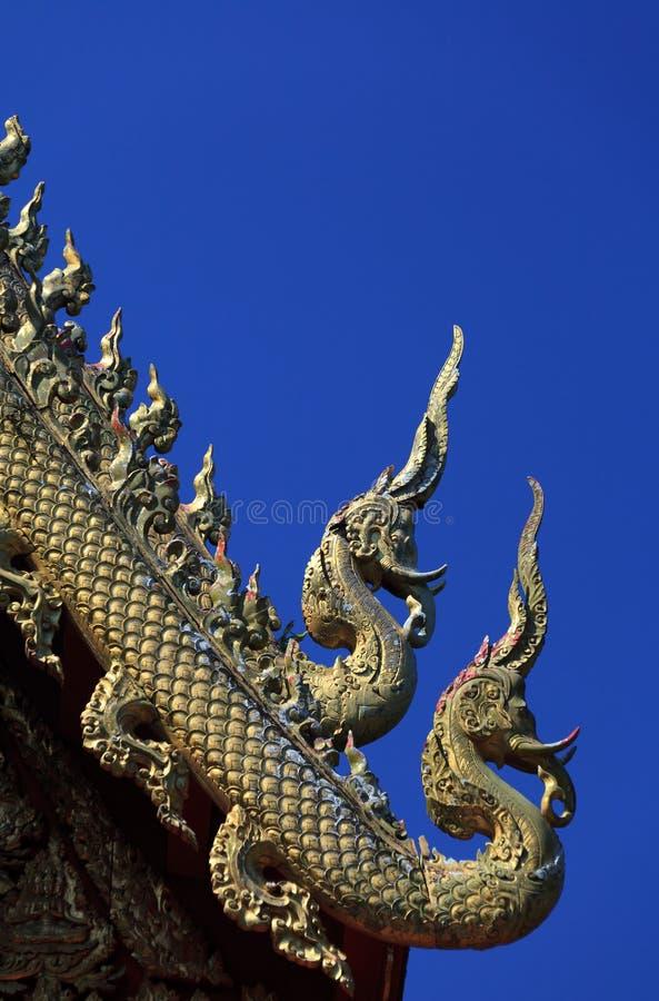 Thailändische Lanna-Linie stockbild