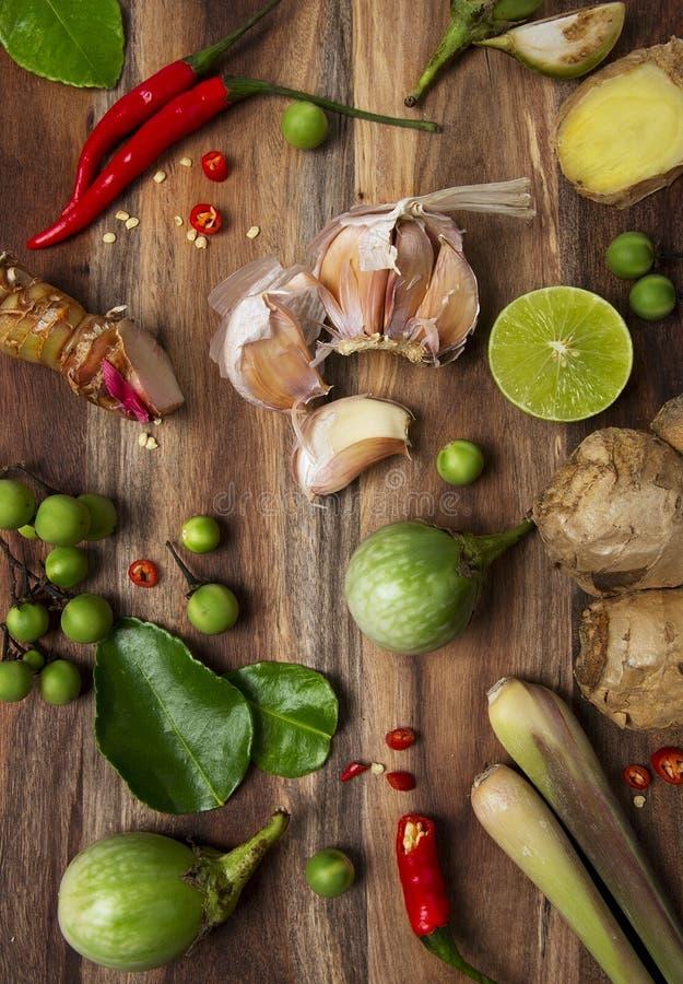 Thailändische Lebensmittelinhaltsstoffe stockfotografie