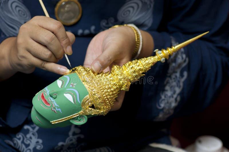 Thailändische Miniaturmaske stockfotos