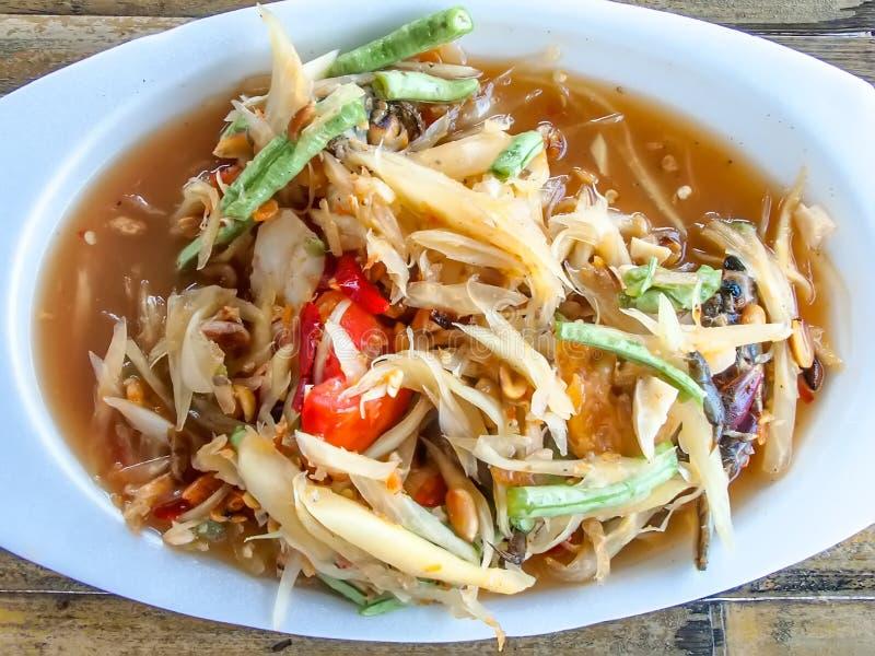 Thailändische Nahrungsmittel das würzige Lebensmittel von Thailand stockfotografie