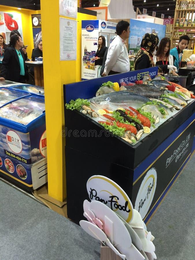 Thailändische Nahrungsmittelausstellung lizenzfreie stockbilder