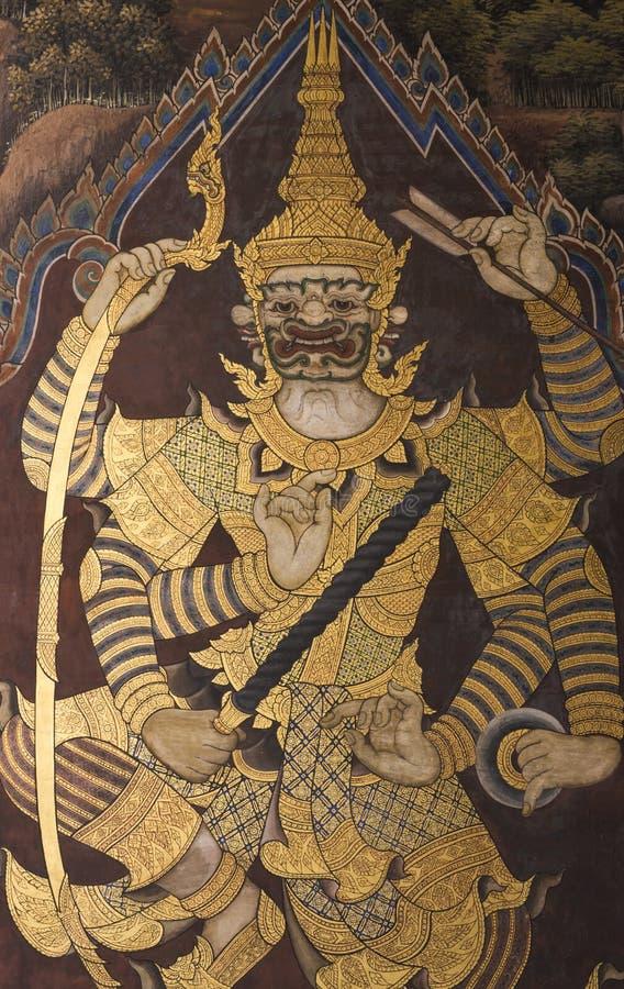 Thailändische riesige Malerei vektor abbildung