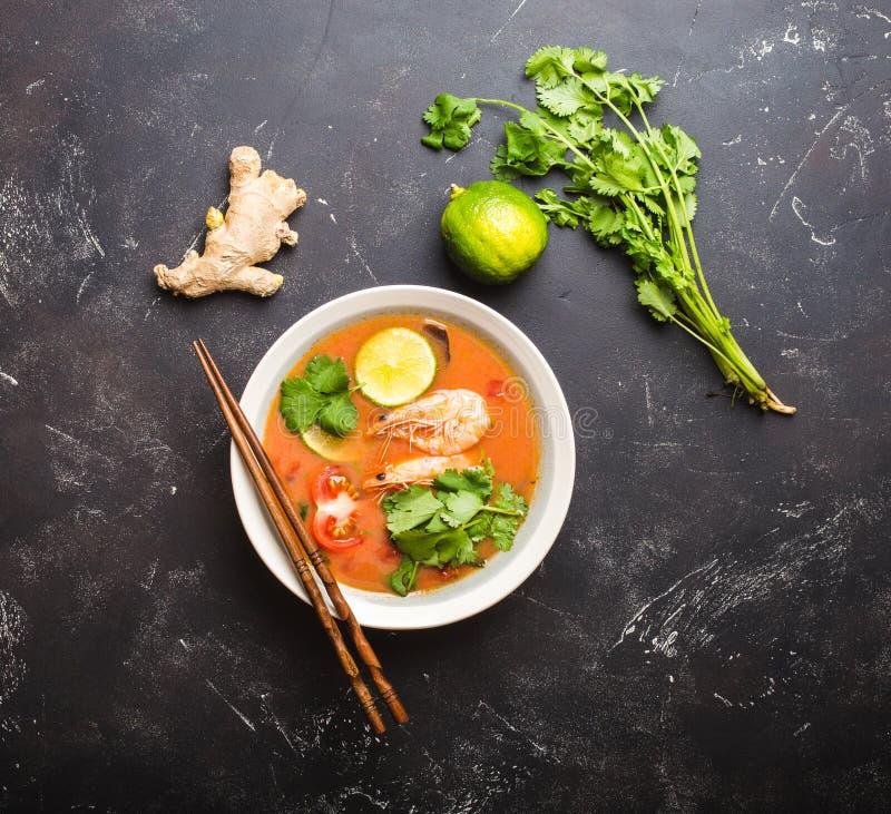 Thailändische Suppe Tom Yum lizenzfreie stockbilder