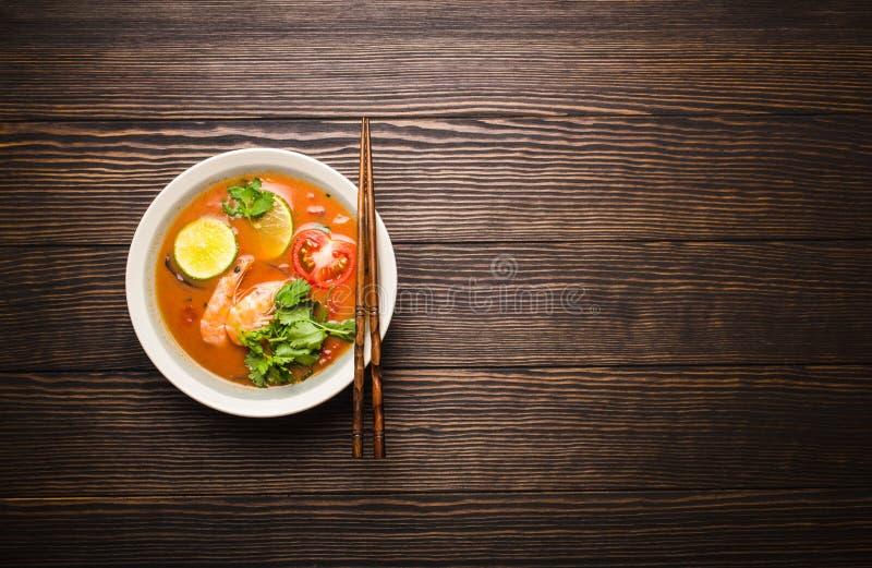 Thailändische Suppe Tom Yum stockbilder