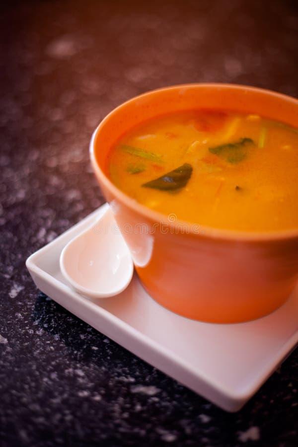 Thailändische Suppe Tom Yum stockfotos