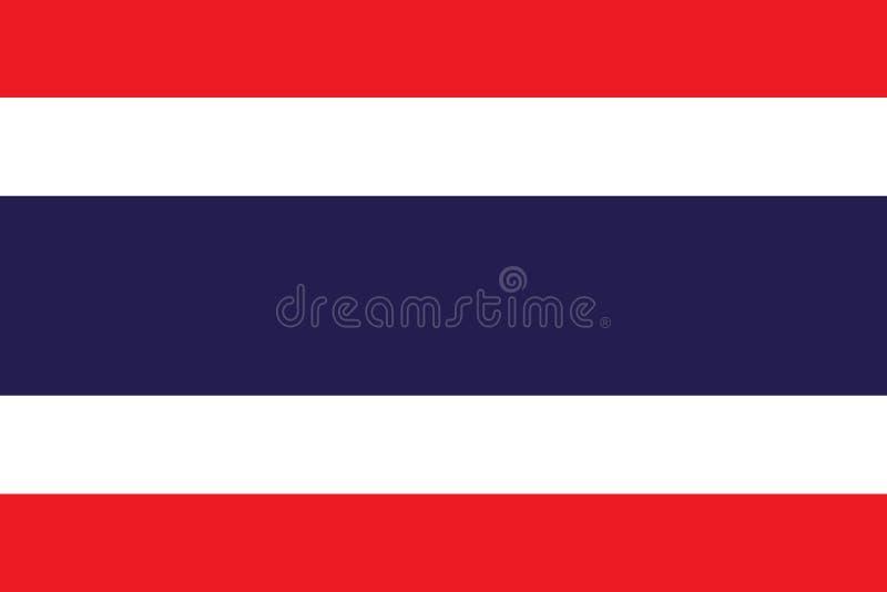 Thailändische Thailand-Flagge stock abbildung
