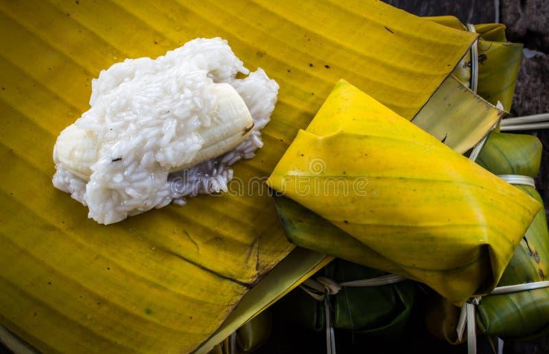 Thailändischer Artnachtisch, gemacht von der Banane stockfoto