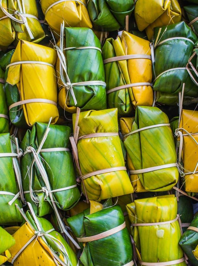 Thailändischer Artnachtisch, gemacht von der Banane lizenzfreie stockfotografie