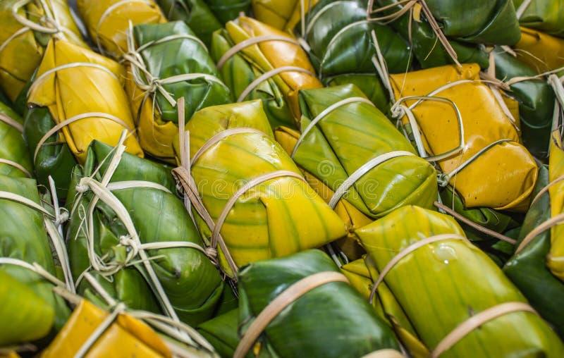 Thailändischer Artnachtisch, gemacht von der Banane stockbilder