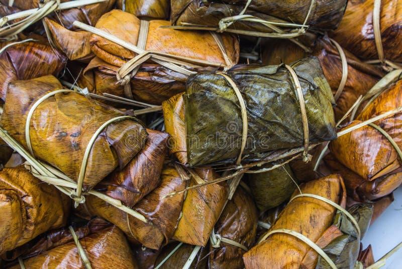Thailändischer Artnachtisch, gemacht von der Banane stockfotografie