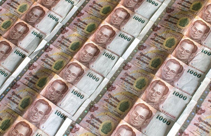 Thailändischer Geld-Hintergrund. stockbild