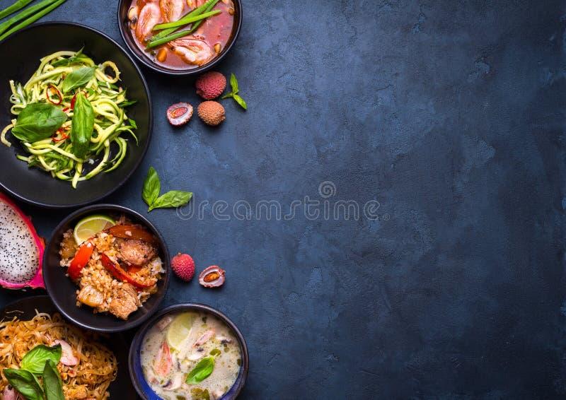 Thailändischer Lebensmittelhintergrund stockfoto