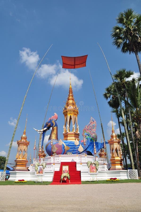 Thailändischer Mönch Crematory Lamphun Thailand lizenzfreies stockfoto