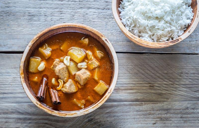 Thailändischer Massaman-Curry stockfoto