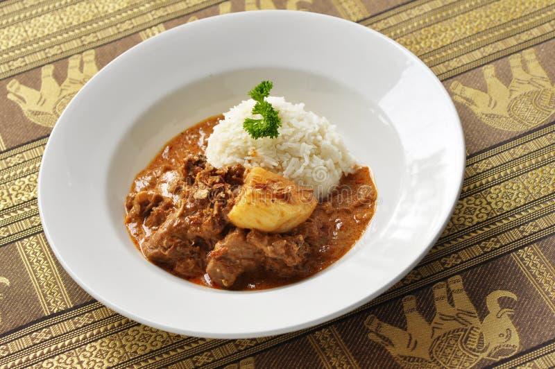 Thailändischer Massaman-Curry stockbild