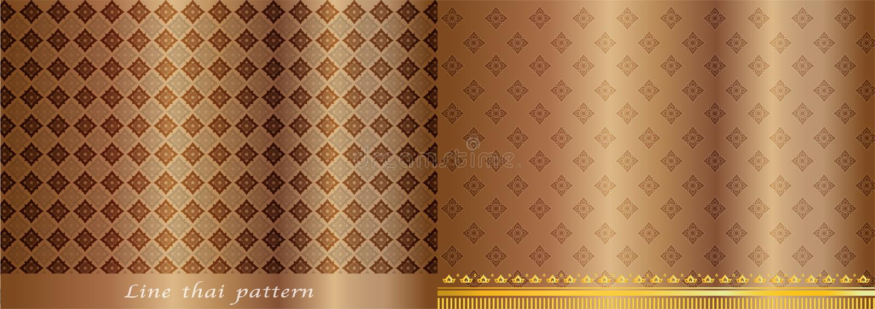 Thailändischer Mustergoldweinlesehintergrund vektor abbildung