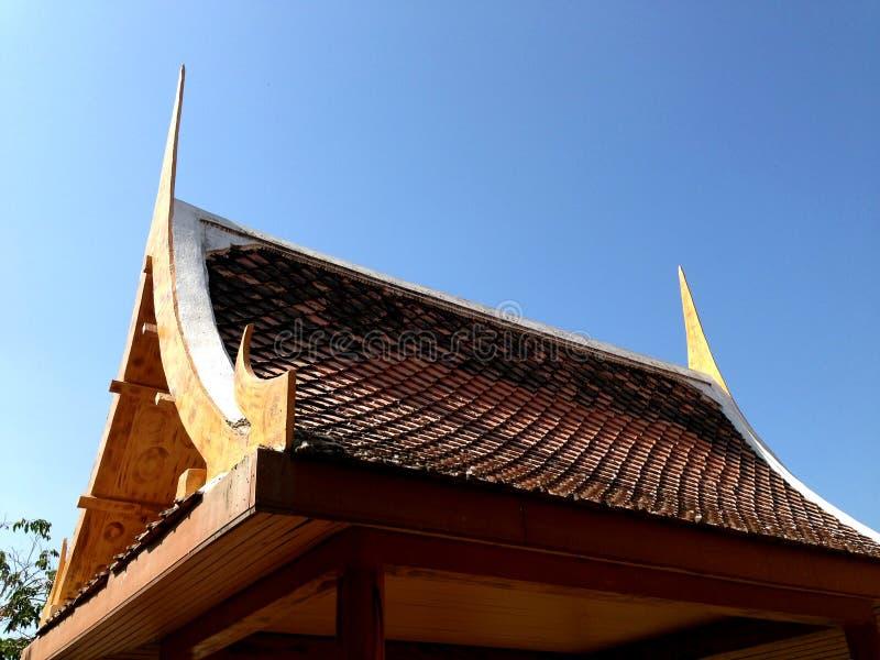 Thailändischer Pavillon, Dachspitze lizenzfreies stockbild