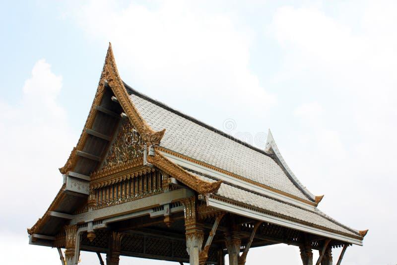 Thailändischer Pavillon, Wat Sothornwararamworaviharn, Chachoengsao Thailand stockfotos