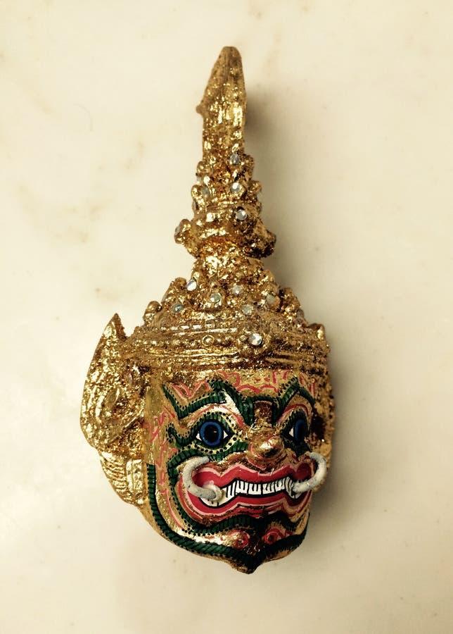 Thailändischer riesiger Kopfschmuck Ramayana stockfoto