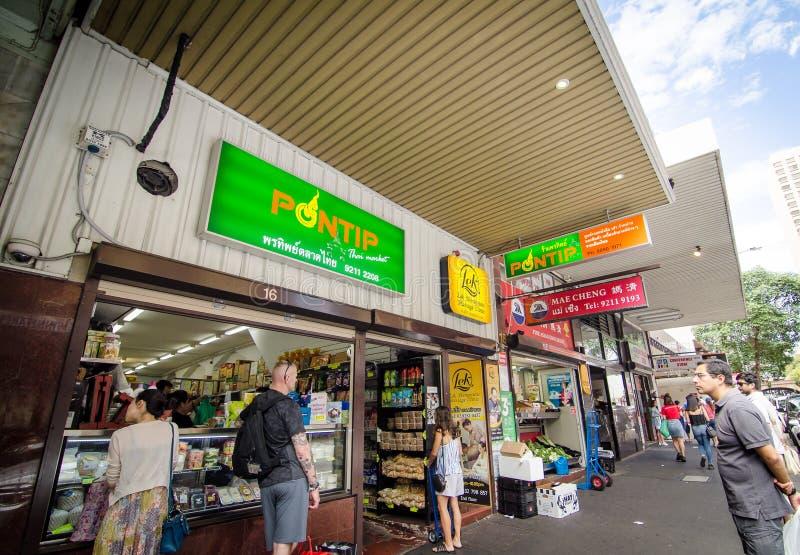 Thailändischer Stadtgemischtwarenladen auf Campbell Street stockfotografie