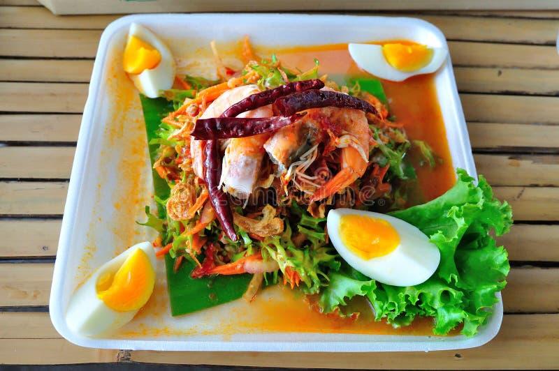 Thailändischer Wing Bean Salad lizenzfreies stockfoto