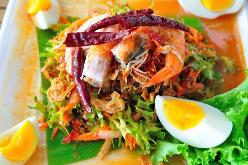 Thailändischer Wing Bean Salad stockbilder