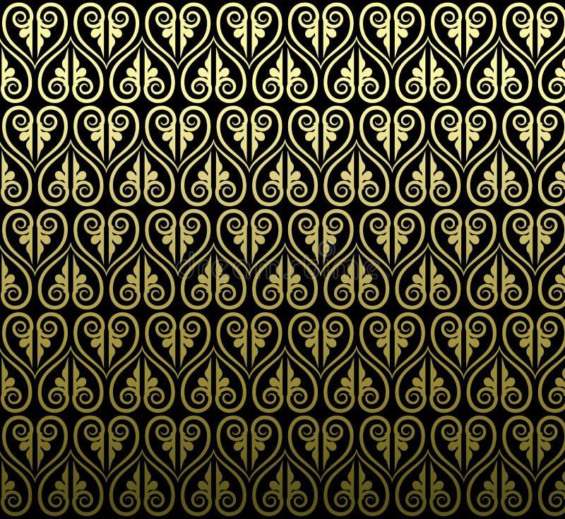 Thailändisches Design der traditionellen Kunst Thailändischer Art Background, thailändisches Kunst patte vektor abbildung