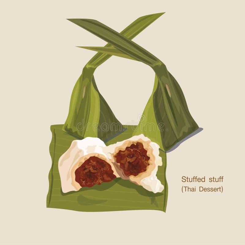 Thailändisches Format des Nachtischs eps10 lizenzfreie abbildung
