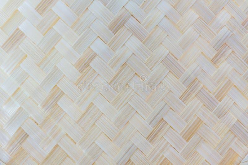 Thailändisches Handwerk des Bambuswebartmusters. stockbild