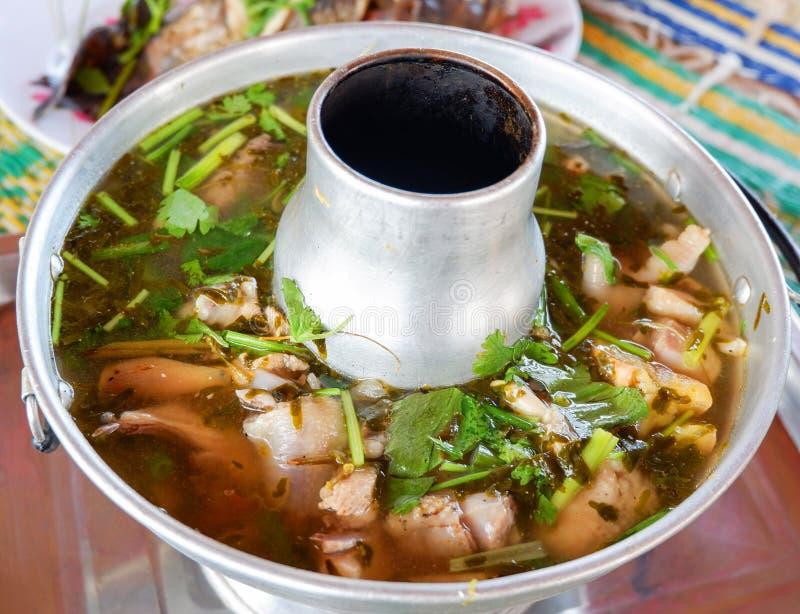 Thailändisches heißes unsere Suppe stockfotos