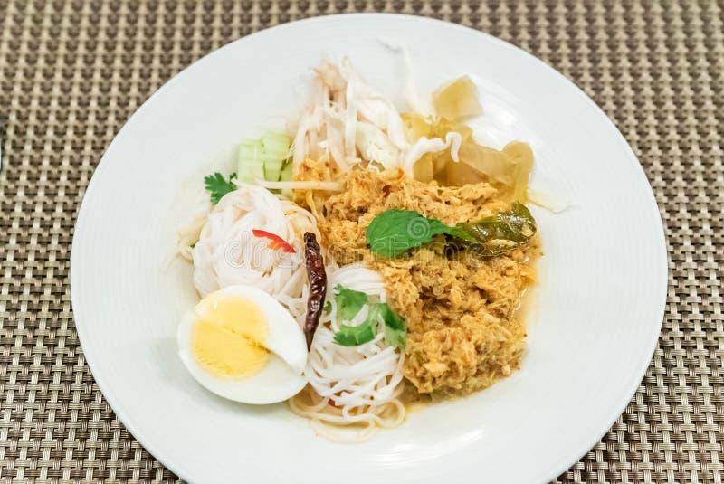 Thailändisches Reis-Nudelkrebsfleisch lizenzfreie stockfotos