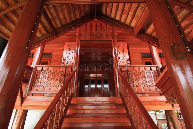 Thailändisches ` s architechture firmengebundenen Sprachstils stockbild