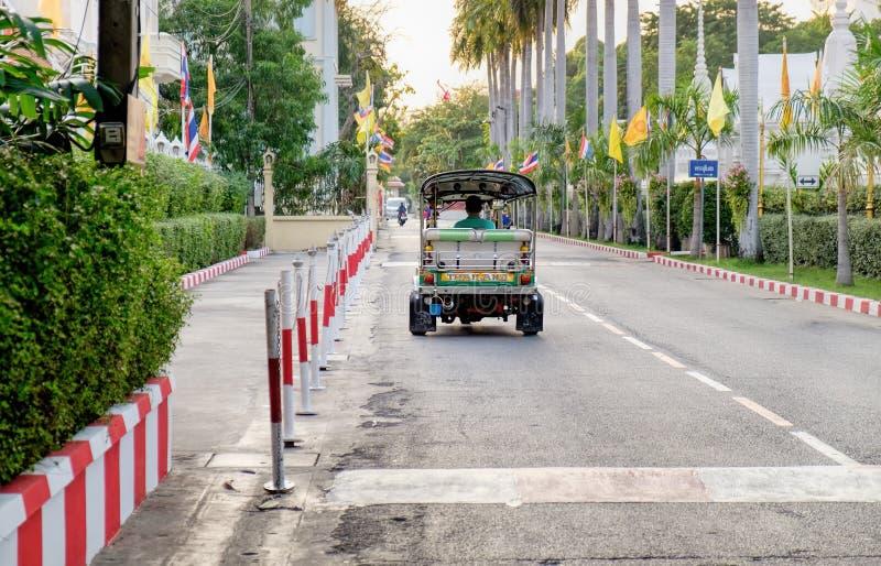 Thailändisches traditionelles Taxi in Bangkok, Thailand stockbild