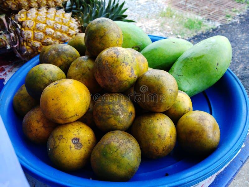 Thailändsk apelsinfrukt fotografering för bildbyråer