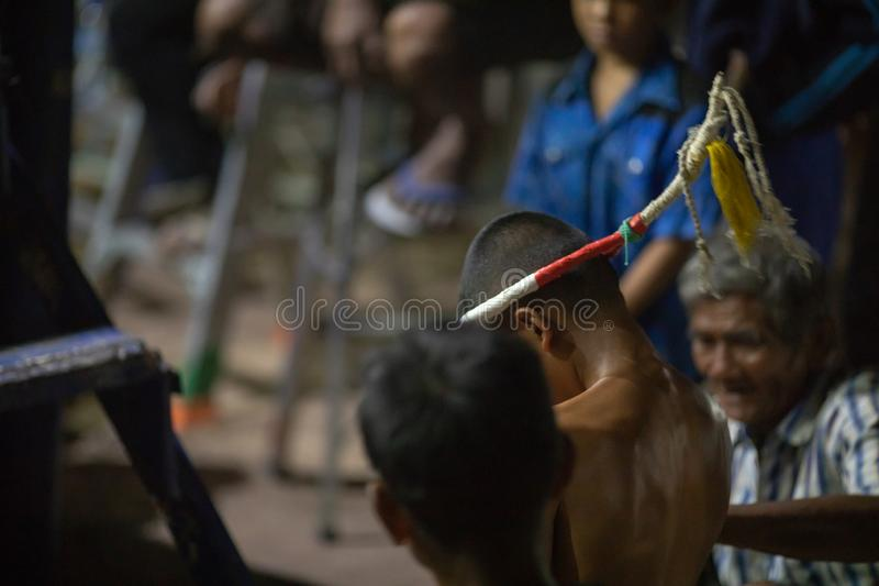 Thailändsk boxarefestival royaltyfri foto