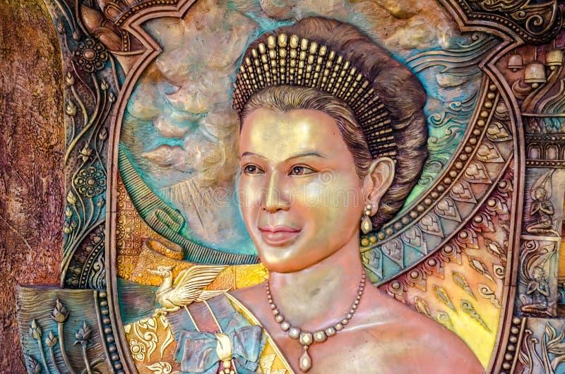 Thailändsk drottningstående arkivfoto