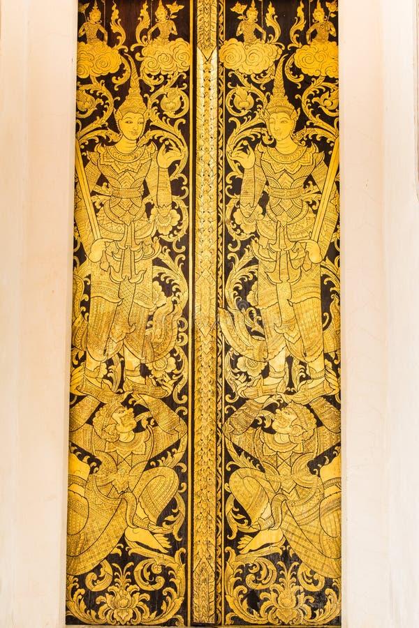 Thailändsk gammal stil för ängel- och konstmodell arkivfoto