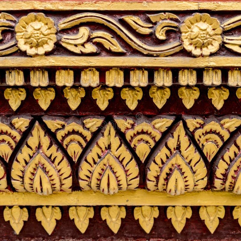 Thailändsk konkret stuckatur arkivbild