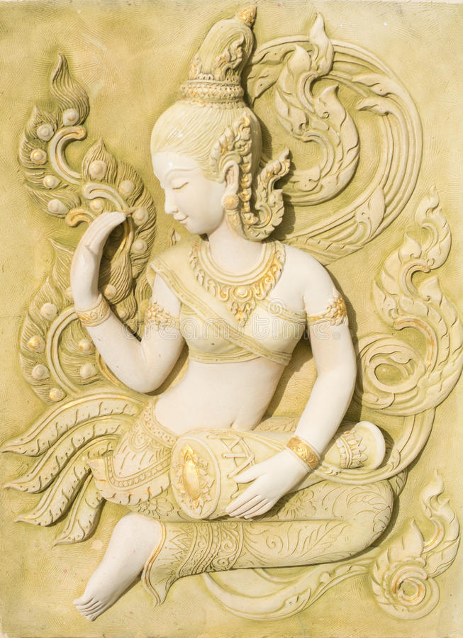 Thailändsk konst av religionen arkivfoto
