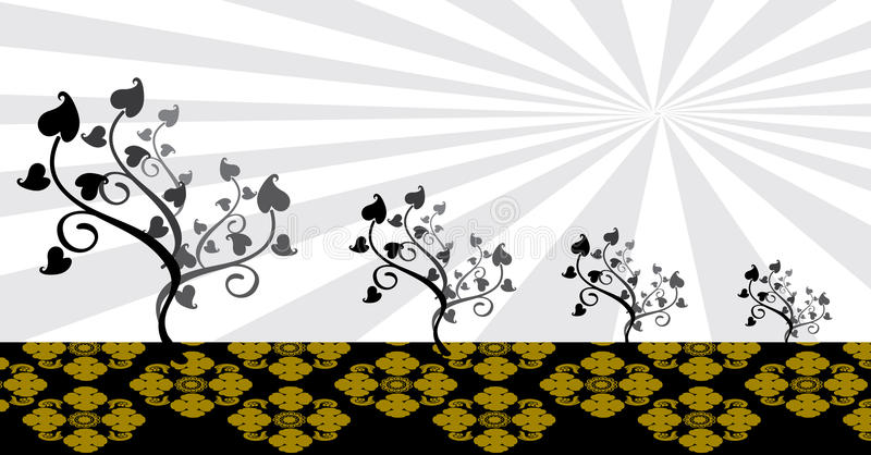 Thailändsk konstbakgrundsvektor royaltyfri illustrationer