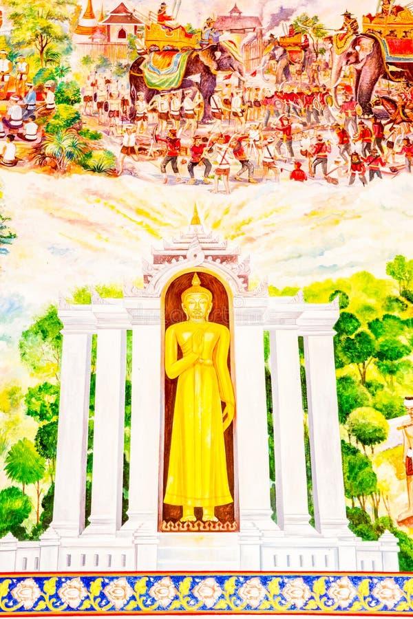 Thailändsk konstmålning arkivfoto
