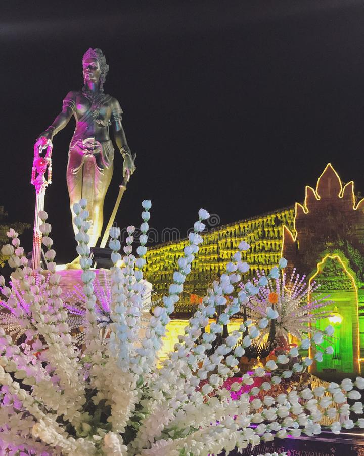 Thailändsk Lanna monumentminnesmärke arkivfoto