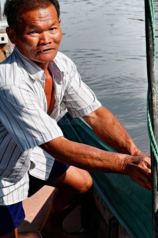 Thailändsk man royaltyfria foton