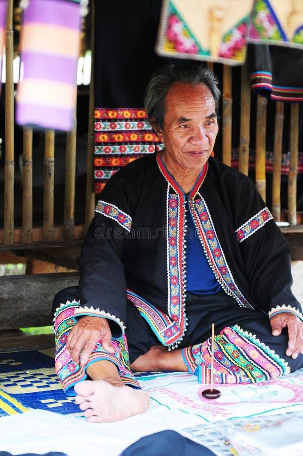 Thailändsk man arkivbild