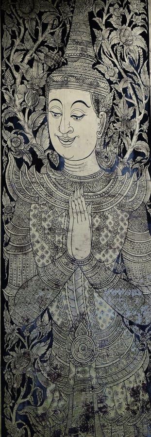 Thailändsk modell av vinkelförmyndaren royaltyfri bild
