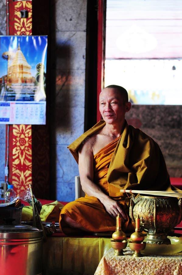 Thailändsk munk arkivbild