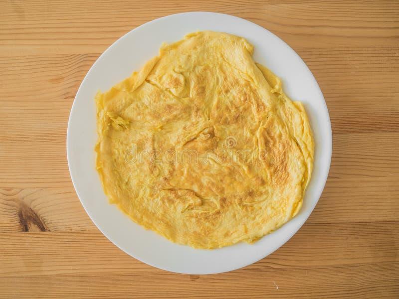 Thailändsk omelett eller omelett royaltyfri fotografi